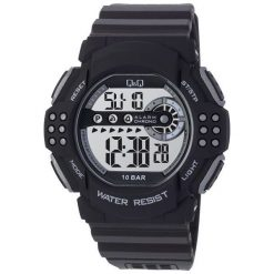 Biżuteria i zegarki męskie: Zegarek Q&Q Męski M128-002 WR 100M Alarm Stoper