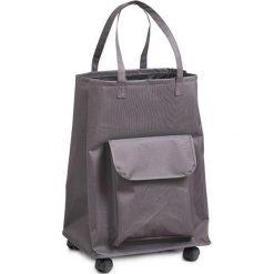 Shopper bag damskie: Wózek w kolorze szarym na zakupy – (S)40 x (W)60 x (G)33 cm
