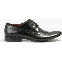 Czarne półbuty. Czarne buty wizytowe męskie Badura. Za 224,99 zł.