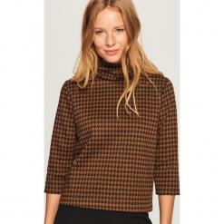 Bluza w pepitkę - Wielobarwn. Brązowe bluzy damskie marki Calvin Klein Jeans, xl, z bawełny. Za 89,99 zł.