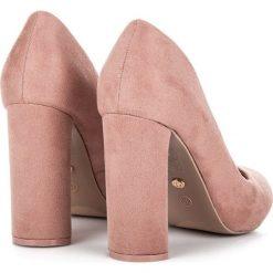 Buty ślubne damskie: ELEGANCKIE CZÓŁENKA NA SŁUPKU IDEAL SHOES różowe