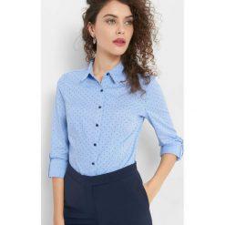 Taliowana koszula ze wzorem. Brązowe koszule damskie marki Orsay, s, z dzianiny. Za 89,99 zł.