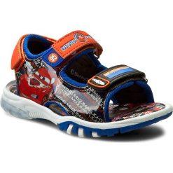 Sandały męskie skórzane: Sandały CARS – CP44-5118DCARS Niebieski/Pomarańczowy