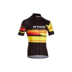 Koszulka krótki rękaw na rower ROADCYCLING 900 Belgia męska. Czarne odzież rowerowa męska marki KALENJI, m, z elastanu, z krótkim rękawem, do biegania. Za 169,99 zł.