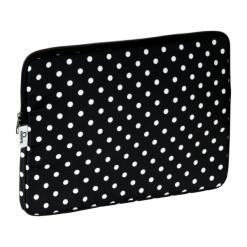 "Torby na laptopa: Baga 13″ – 13.3"" kropki białe"