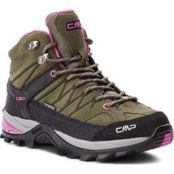 Trekkingi CMP - Rigel Mid Wmn Trekking Shoes Wp 3Q12946 Olive/Hot Pink 80BD. Zielone buty trekkingowe damskie CMP. W wyprzedaży za 279,00 zł.