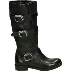 Kozaki - KAROL05 DU NE. Czarne buty zimowe damskie Venezia, ze skóry. Za 649,00 zł.