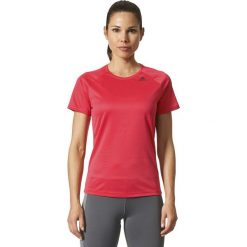 Bluzki damskie: Adidas Koszulka damska D2M Tee czerwona r.  S (BQ5837)