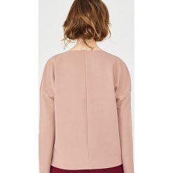 Simple - Bluzka. Różowe bluzki nietoperze Simple, z elastanu, casualowe, z dekoltem w łódkę. W wyprzedaży za 239,90 zł.