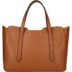 """Torebki klasyczne damskie: Skórzana torebka """"St. Dominique"""" w kolorze karmelowym – 29 x 21,5 x 11 cm"""