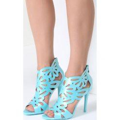 Niebieskie Sandały Sweet Sweet. Niebieskie rzymianki damskie vices, na wysokim obcasie. Za 99,99 zł.