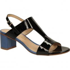 SANDAŁY BRUNO PREMI X3402X. Niebieskie sandały damskie marki Bruno Premi, z materiału. Za 219,99 zł.