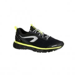Buty do biegania KIPRUN LONG hydrofobowe męskie. Czarne buty do biegania męskie marki KALENJI, z gumy. Za 269,99 zł.