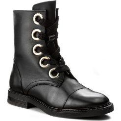 Botki LIU JO - Anfibio Lacci Grace S67155 P0055 Nero 22222. Czarne buty zimowe damskie marki Liu Jo, z materiału. W wyprzedaży za 599,00 zł.