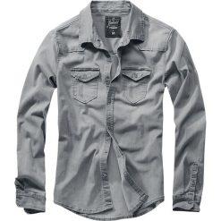 Brandit Riley Denimshirt Koszula szary. Białe koszule męskie na spinki marki Brandit, l, z aplikacjami, z bawełny, z długim rękawem. Za 164,90 zł.