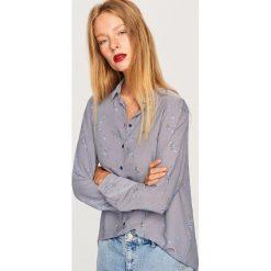 Koszula we wzory - Niebieski. Niebieskie koszule damskie Reserved. Za 49,99 zł.
