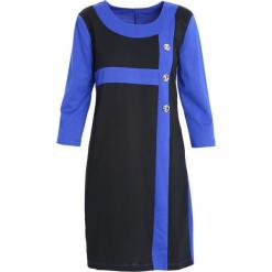 Ciemnoniebieska Sukienka Since You're Gone. Niebieskie sukienki Born2be, na jesień, xl, midi. Za 44,99 zł.