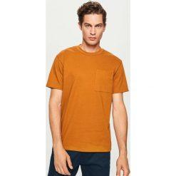 T-shirt z bawełny organicznej - Brązowy. Brązowe t-shirty męskie Reserved, l, z bawełny. W wyprzedaży za 29,99 zł.