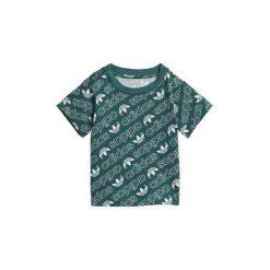 T-shirty z krótkim rękawem Dziecko  adidas  Koszulka Trefoil Monogram. Zielone t-shirty chłopięce z krótkim rękawem Adidas. Za 79,95 zł.