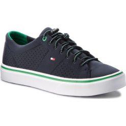 Tenisówki TOMMY HILFIGER - Lightweight Neoprene Sneaker FM0FM01351 Midnight 403. Niebieskie tenisówki męskie marki TOMMY HILFIGER, z gumy. Za 349,00 zł.