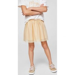 Mango Kids - Spódnica dziecięca Mandala 110-164 cm. Szare minispódniczki marki Mango Kids, z bawełny, rozkloszowane. W wyprzedaży za 49,90 zł.
