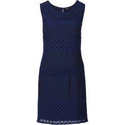 Sukienki: Sukienka z koronkowymi wstawkami bonprix ciemnoniebieski