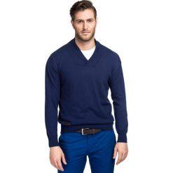 Sweter ALESSANDRO SWG000049. Brązowe swetry klasyczne męskie marki Giacomo Conti, na zimę, m, z bawełny. Za 299,00 zł.