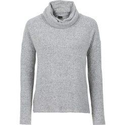 Golfy damskie: Miękki sweter z golfem bonprix jasnoszary melanż