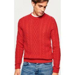 Sweter - Czerwony. Czerwone swetry klasyczne męskie marki Reserved, l. Za 99,99 zł.