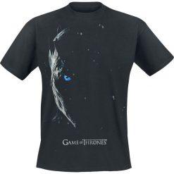 Gra o Tron Season 7 Poster - Nachtkönig T-Shirt czarny. Niebieskie t-shirty męskie z nadrukiem marki Reserved, l, z okrągłym kołnierzem. Za 69,90 zł.