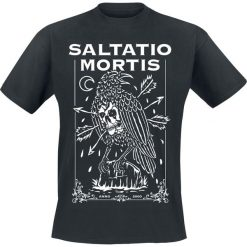 T-shirty męskie z nadrukiem: Saltatio Mortis Dead Crow T-Shirt czarny