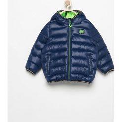 Pikowana kurtka z kapturem - Granatowy. Niebieskie kurtki chłopięce z kapturem marki WED'ZE. Za 349,99 zł.