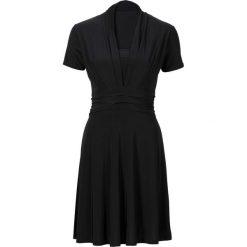 Sukienki: Sukienka z drapowaniem bonprix czarny