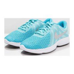 Nike Performance REVOLUTION Obuwie do biegania treningowe bleached aqua/metallic silver/light blue fury/white. Niebieskie buty do biegania damskie marki Nike Performance, z materiału. W wyprzedaży za 160,65 zł.