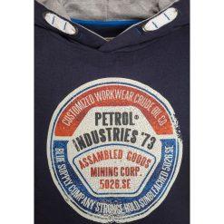 Petrol Industries HOODED  Bluza z kapturem deep capri. Białe bluzy chłopięce rozpinane marki Petrol Industries, z bawełny. W wyprzedaży za 134,10 zł.