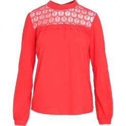 Czerwona Koszula Blithesome. Czerwone koszule damskie Born2be, l, z koronki, eleganckie, z okrągłym kołnierzem, z długim rękawem. Za 59,99 zł.