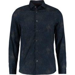 Koszule męskie na spinki: Burton Menswear London NAVY PIXALLATED Koszula navy