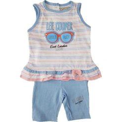 Spodnie niemowlęce: 2-częściowy zestaw w kolorze błękitnym