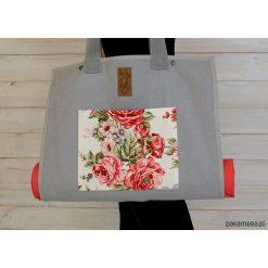 Torba na akcesoria do jogi/ Roses #1. Szare torebki klasyczne damskie Pakamera, z tkaniny, duże. Za 239,00 zł.