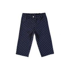 Spodnie niemowlęce: PINK OR BLUE Spodnie Jeans denim kropki