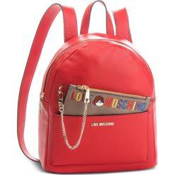 Plecak LOVE MOSCHINO - JC4277PP06KK0500  Rosso. Czerwone plecaki damskie marki Love Moschino, ze skóry ekologicznej. Za 959,00 zł.
