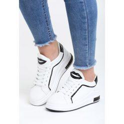 Biało-Czarne Buty Sportowe Love Me Too. Pomarańczowe buty sportowe damskie marki Born2be, z materiału. Za 89,99 zł.