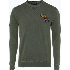 Superdry - Sweter męski, zielony. Zielone swetry klasyczne męskie Superdry, l, z aplikacjami. Za 329,95 zł.