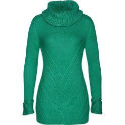 Sweter bonprix szmaragdowy. Zielone golfy damskie bonprix. Za 99,99 zł.