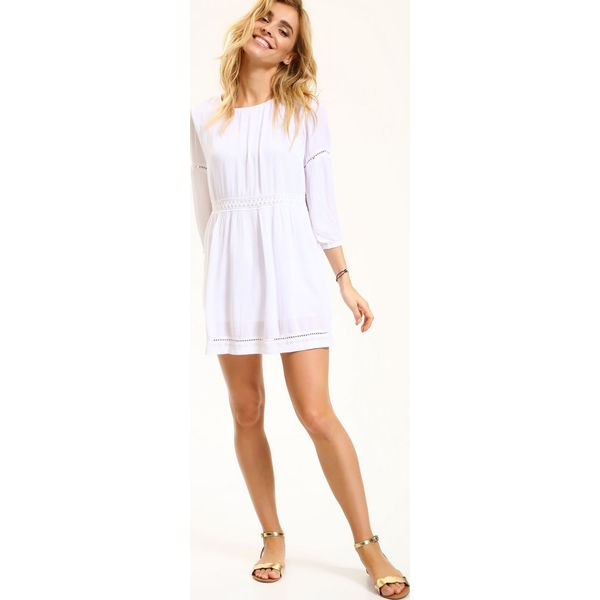 c181bbc9e4b0ad SUKIENKA DAMSKA AŻUROWA - Białe sukienki damskie Top Secret, na lato ...