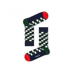 Skarpetki Happy Socks - Holiday XMAS (FIO01-7002). Szare skarpetki męskie Happy Socks, w kolorowe wzory, z bawełny. Za 34,90 zł.