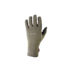 Rękawiczki trekkingowe górskie Trek 500. Brązowe rękawiczki damskie QUECHUA, z elastanu. Za 39,99 zł.