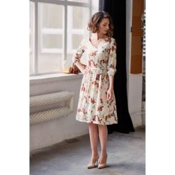 Sukienki hiszpanki: Sukienka Hypatia Uitta kremowa 32