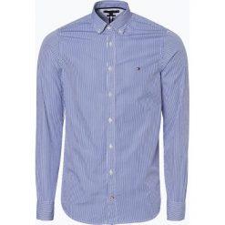 Tommy Hilfiger - Koszula męska, niebieski. Niebieskie koszule męskie na spinki TOMMY HILFIGER, l, w paski. Za 349,95 zł.