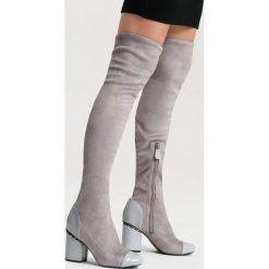 Jasnoszare Kozaki Midnight Hour. Szare buty zimowe damskie vices, na wysokim obcasie. Za 129,99 zł.